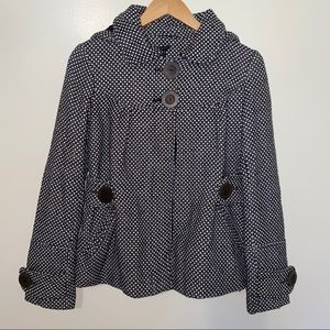 Theory Hooded Pea Coat Size Small